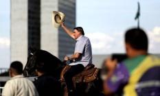 Jair Bolsonaro participa de protesto contra STF e CPI da Covid em Brasília Foto: UESLEI MARCELINO / REUTERS
