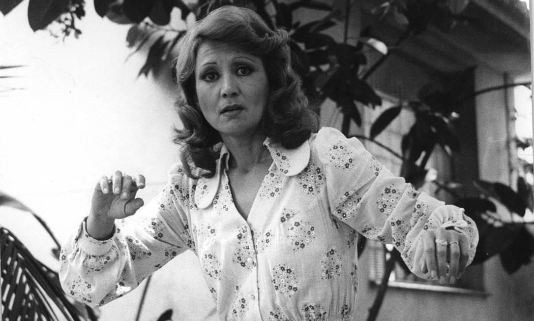 """Eva Wilma em """"Mulheres de Areia"""", em 1974: atriz deu vida às gêmeas Ruth e Raquel"""