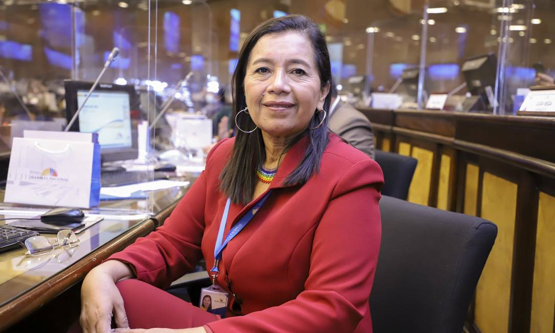 A deputada equatoriana Guadalupe Llori, do Pachakutik Foto: Divulgação