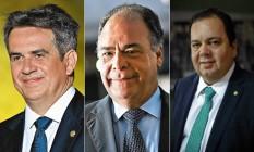 Ciro Nogueira, Bezerra e Elmar Nascimento Foto: Agência O Globo