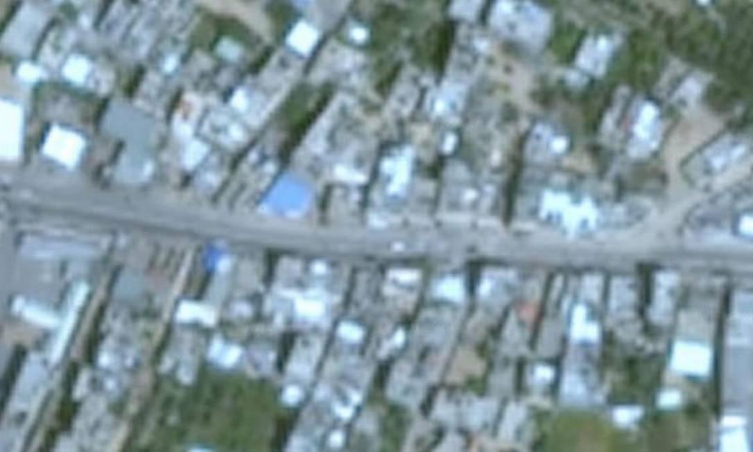 Imagens de Gaza no Google Earth aparecem em resolução bastante baixa, e datam de 2016 Foto: Google