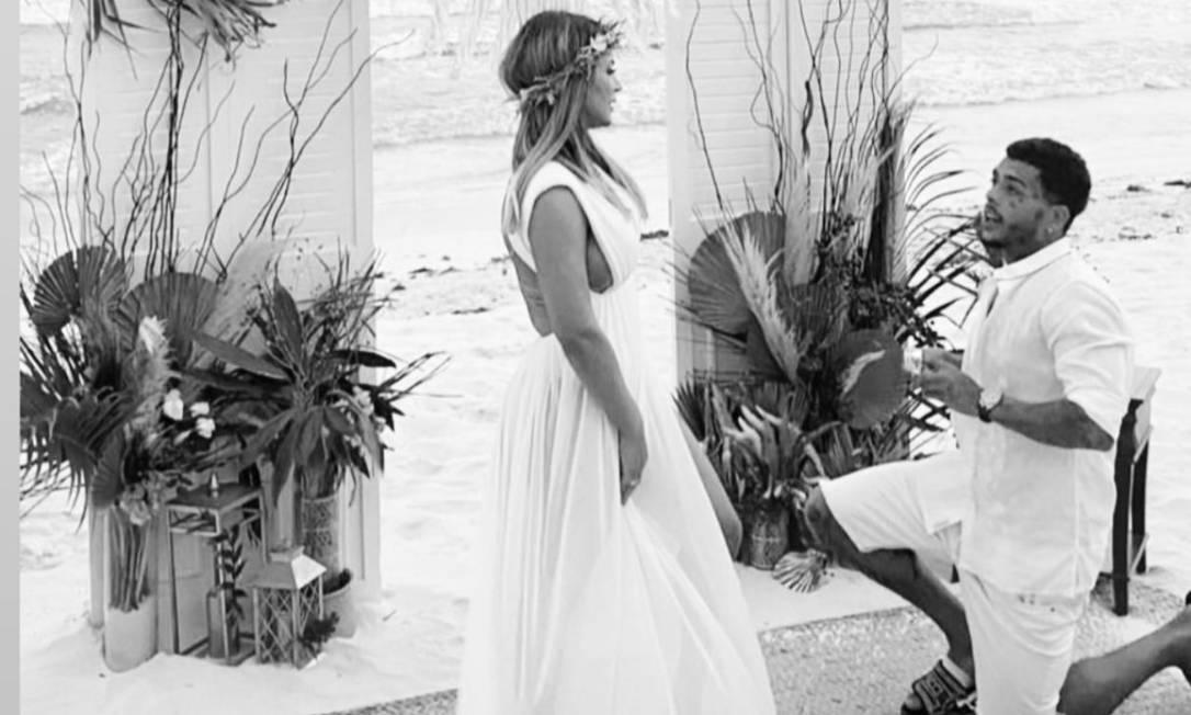 MC Kevin e Deolane no dia do casamento dos dois Foto: Instagram / Reprodução