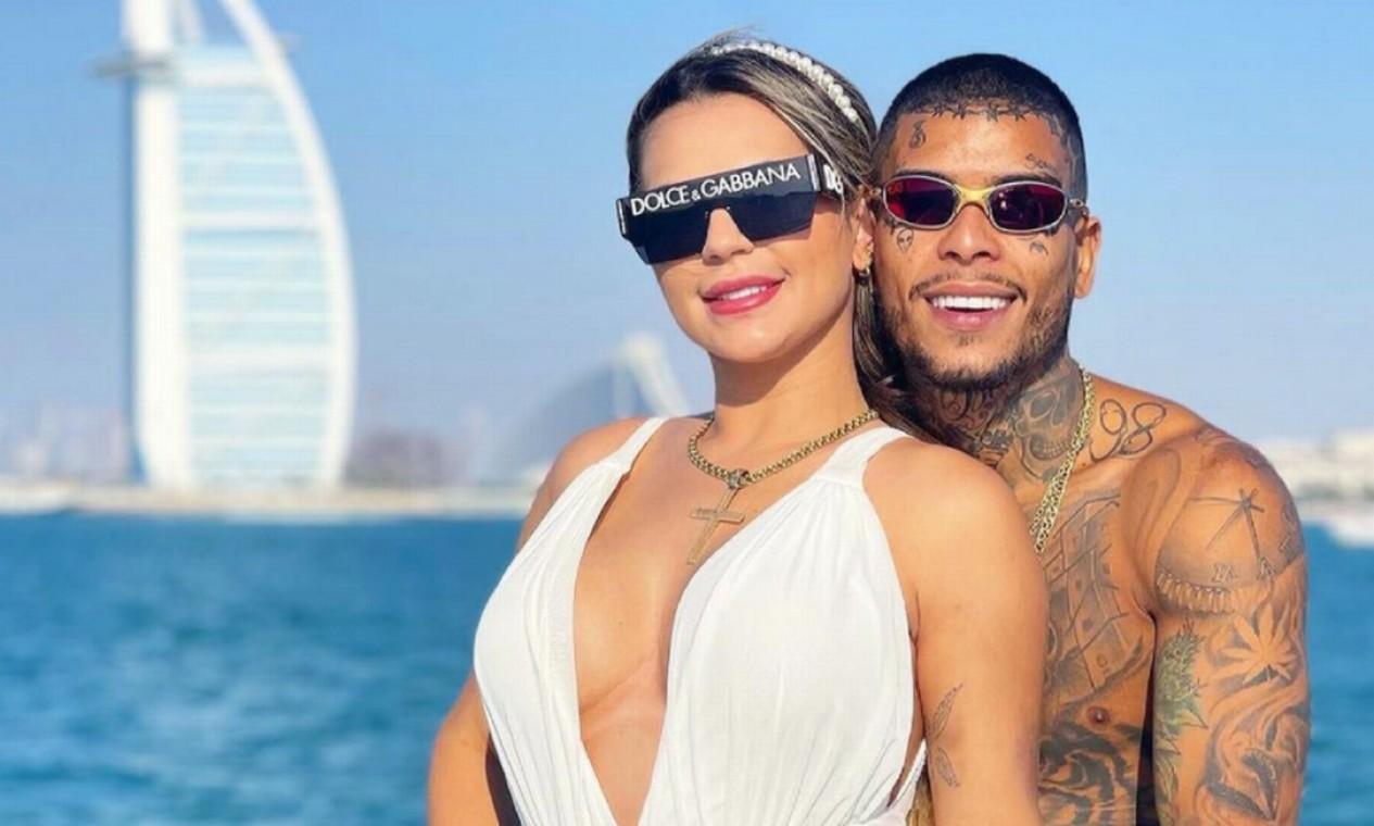 Kevin e a mulher, a advogada Deolane Bezerra, em Dubai, nos Emirados Árabes Foto: Reprodução / Instagram