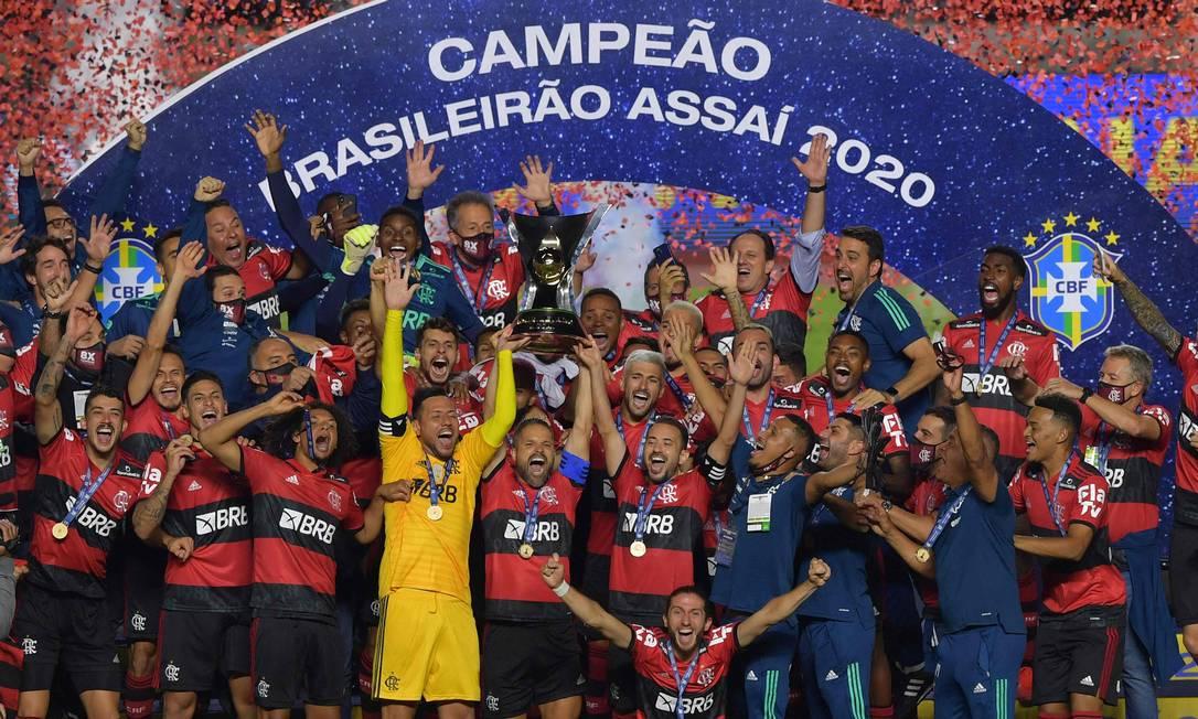 A última edição do Brasileiro, que começa dia 29, foi vencida pelo Flamengo Foto: NELSON ALMEIDA / AFP