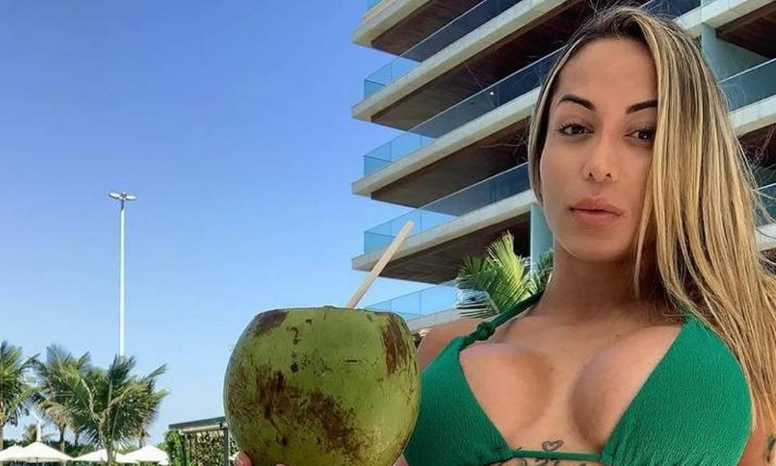 A modelo fitness Bianca Dominguez estava com MC Kevin Foto: Reprodução / Instagram