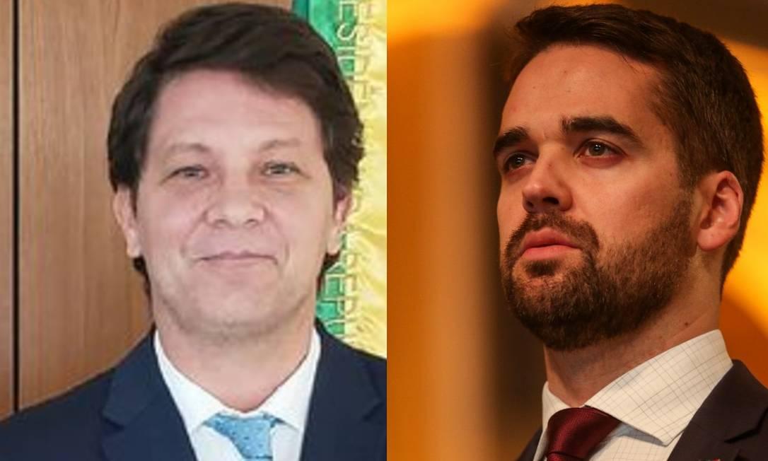 O secretário da Cultura, Mario Frias, e o governador gaúcho, Eduardo Leite Foto: Reprodução Instagram/Felipe Dalla Valle