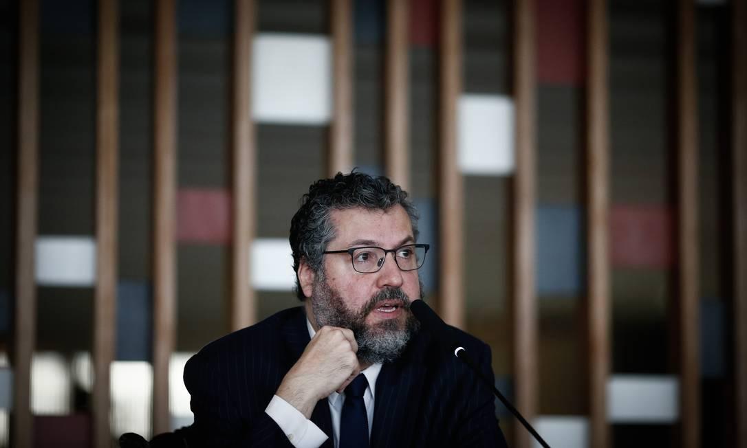 O ex-ministro das Relações Exteriores, Ernesto Araújo 02/03/2021 Foto: Pablo Jacob / Agência O Globo