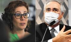 Carla Zambelli e Renan Calheiros Foto: Agência O Globo