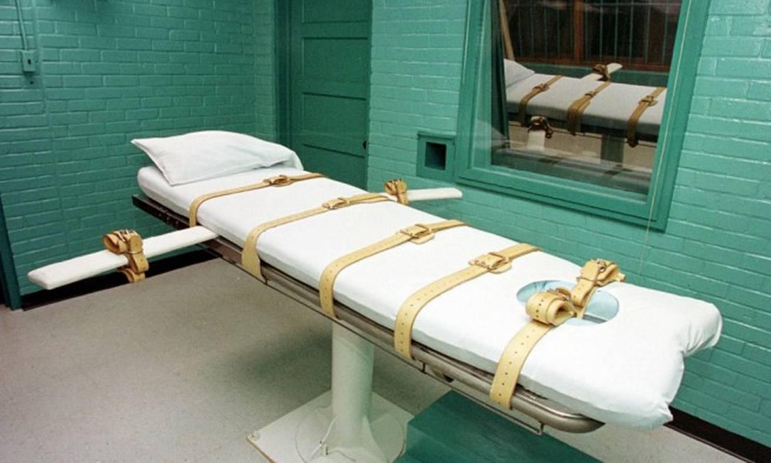 """""""Câmara da morte"""" na Unidade de Huntsville do Departamento de Justiça Criminal do Texas Foto: PAUL BUCK / AFP"""