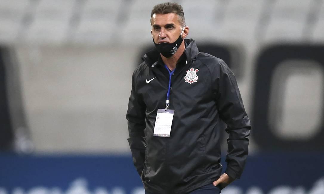 Vagner Mancini foi demitido do Corinthians após eliminação na Sul-Americana e no Paulista Foto: ALEXANDRE SCHNEIDER / AFP