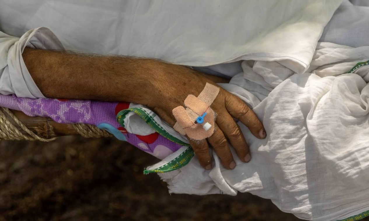 Não existem médicos nem instalações de saúde em Mewla Gopalgarh, situado em Uttar Pradesh, Estado mais populoso do país, e a 90 minutos de carro da capital nacional Nova Délhi Foto: DANISH SIDDIQUI / REUTERS