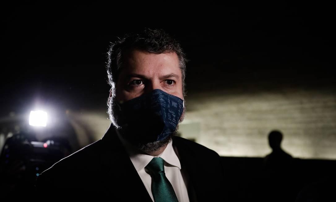 Ex-chanceler Ernesto Araújo chega ao Senado para depor na CPI da Covid Foto: Pablo Jacob / Agência O Globo - 18/05/2021
