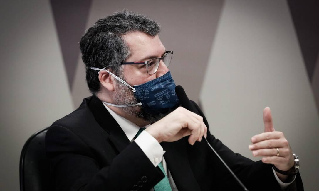 Ex-ministro das Relações Exteriores, Ernesto Araújo Foto: Pablo Jacob/Agência O Globo