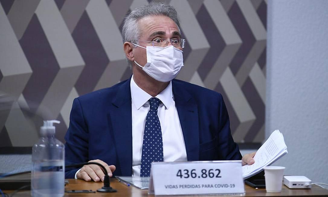 O relator da CPI da Covid, Renan Calheiros 18/05/2021 Foto: Edilson Rodrigues/Agência Senado