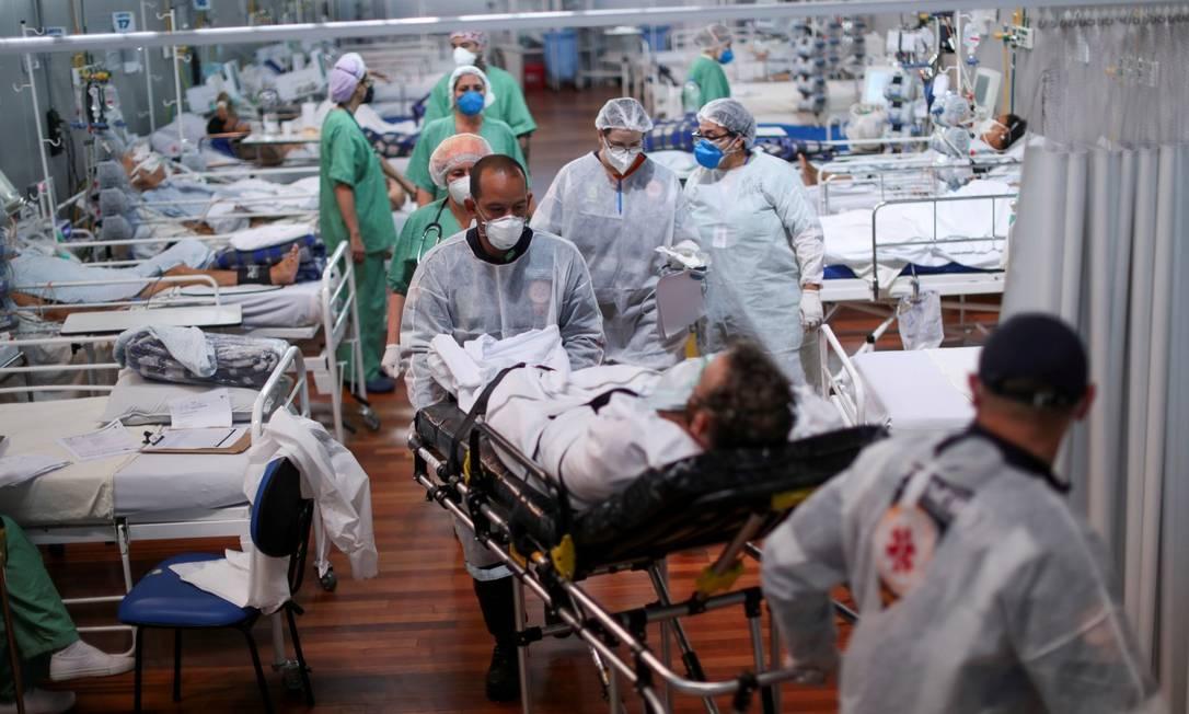 Leitos clínicos de hospital de Santo André, São Paulo Foto: AMANDA PEROBELLI / Reuters