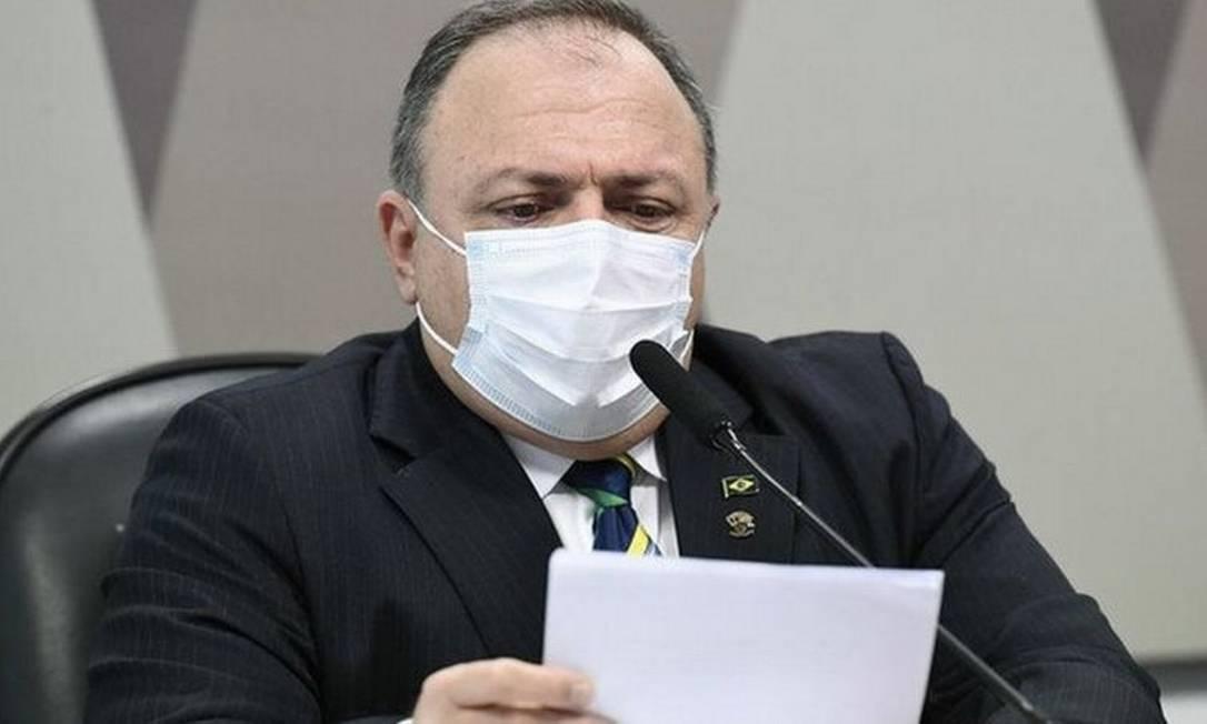 Pazuello foi terceiro a ocupar Ministério da Saúde desde o início da pandemia Foto: JEFFERSON RUDY/AGÊNCIA SENADO