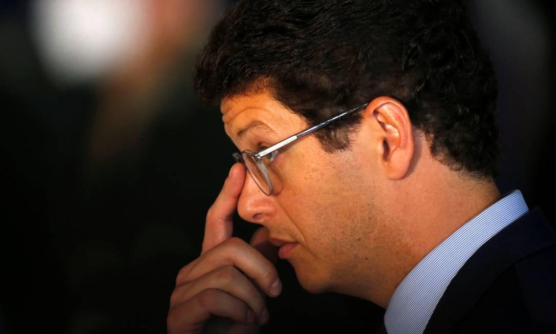 O Ministro do Meio Ambiente Ricardo Salles Foto: ADRIANO MACHADO / Reuters