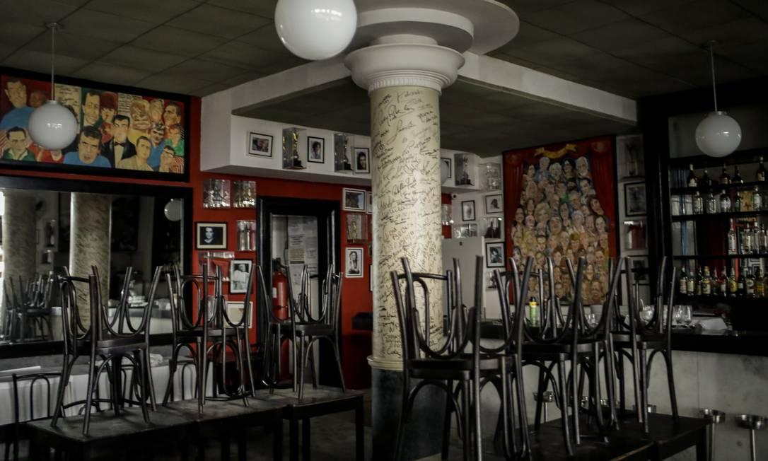 Restaurante La Fiorentina, no Leme, pode ser leiloado na próxima terça-feira Foto: Gabriel de Paiva