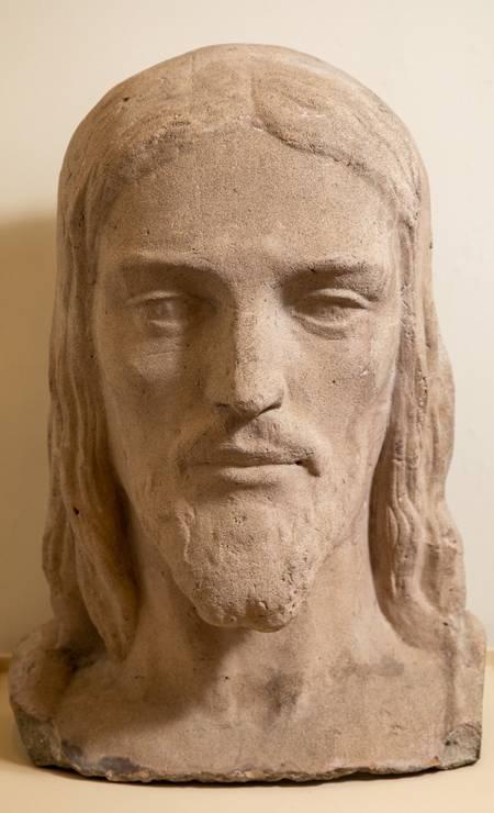 Estudo para a cabeça do Cristo Redentor, de Paul Landowski. Foto: Ana Branco / Agência O Globo