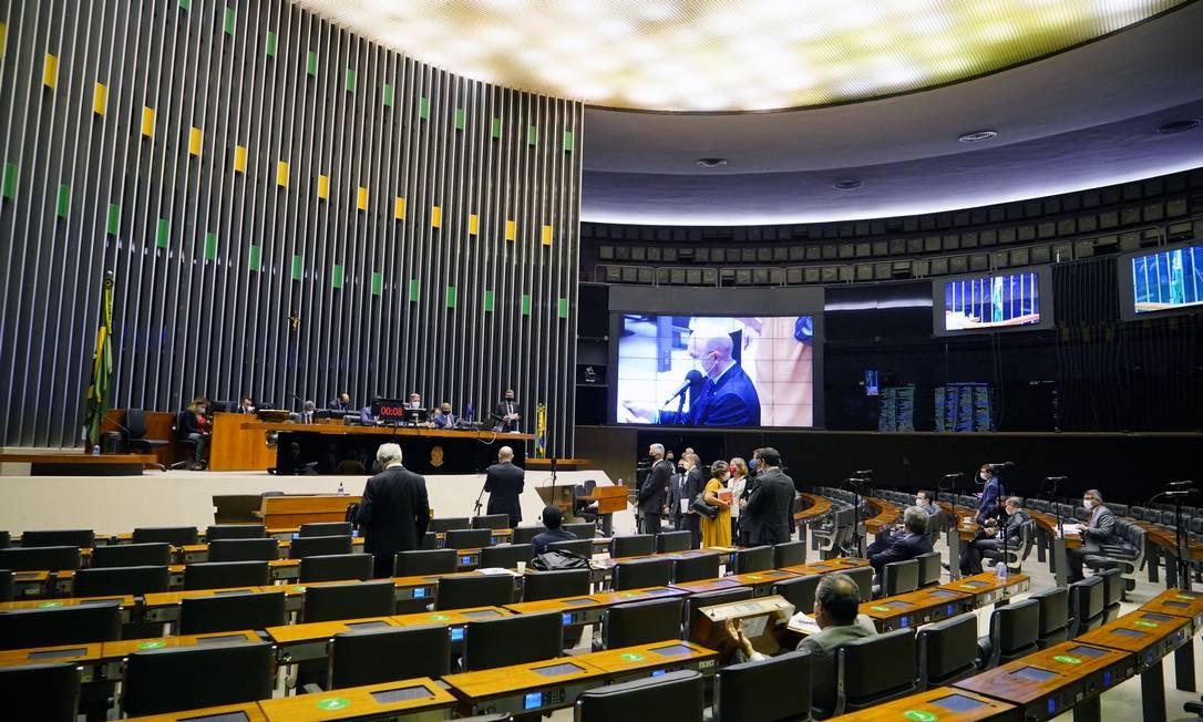 Votação da MP da privatização da Eletrobras no plenário da Câmara Foto: Pablo Valadares / Agência Câmara