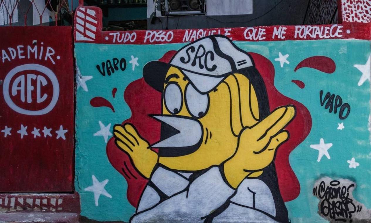 """LabJaca pretende estender a iniciativa para outros pontos da comunidade, para transformar o Jacarezinho """"na maior galeria de arte a céu aberto da América Latina"""" Foto: Lenon Felício / LabJaca"""