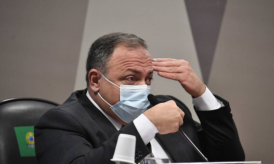 Ex-ministro da Saúde general Eduardo Pazuello Foto: Leopoldo Silva / Leopoldo Silva/Agência Senado