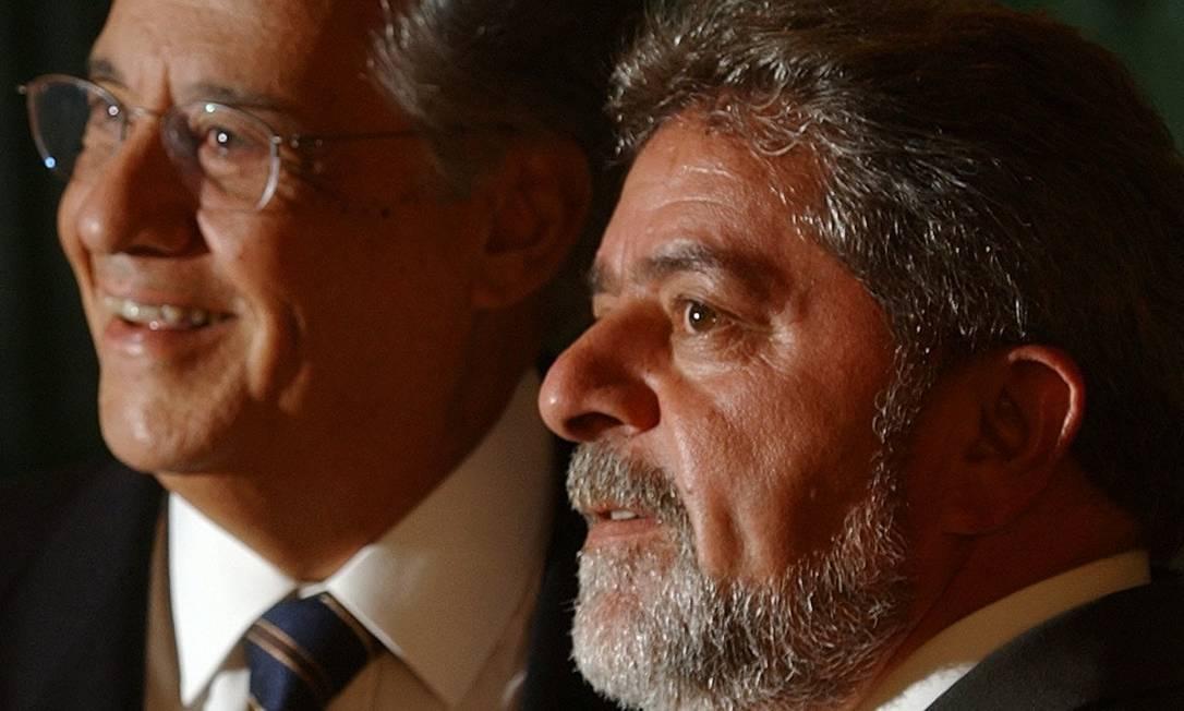 Encontro entre os dois durante a transição entre os dois governos, em 2002 Foto: Dario Lopez-Mills