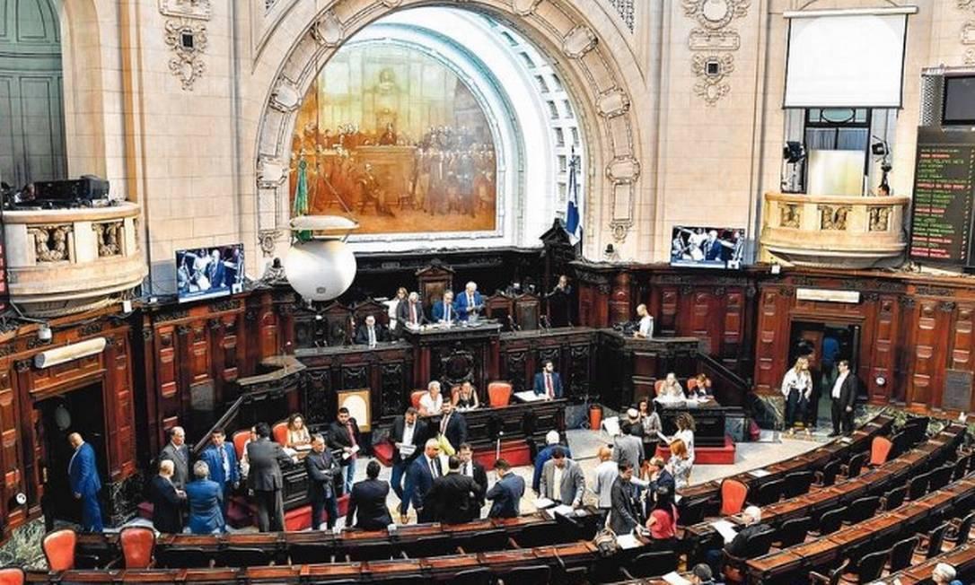 Sessão plenária na Alerj, comandada pelo deputado André Ceciliano Foto: Thiago Lontra / Alerj