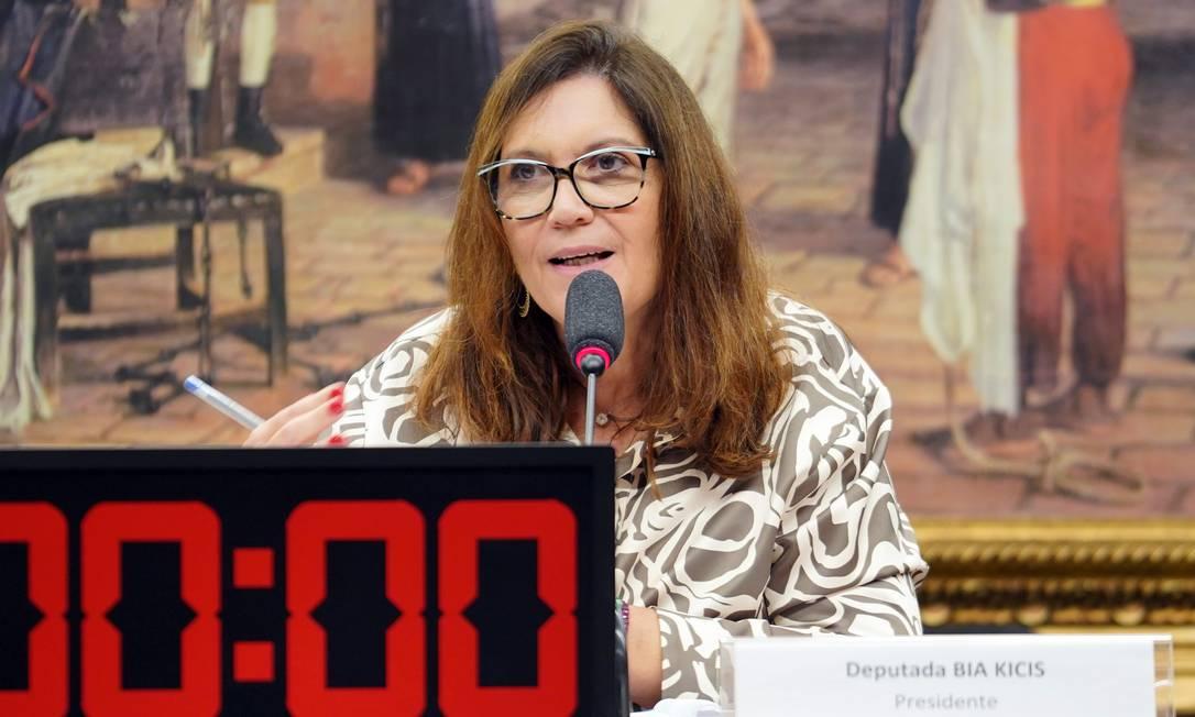 Bia Kicis (PSL-DF), autora de projeto do voto impresso Foto: Pablo Valadares / Câmara dos Deputados