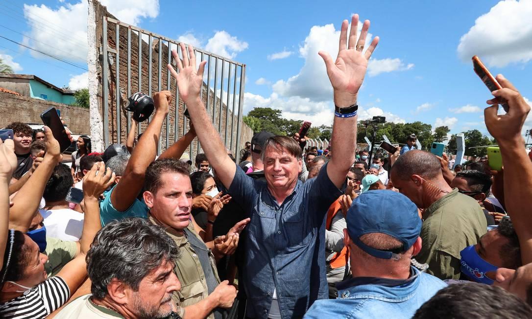 Bolsonaro faz visita surpresa ao município Senador La Rocque, no Maranhão 21/05/2021 Foto: ISAC NOBREGA / AFP