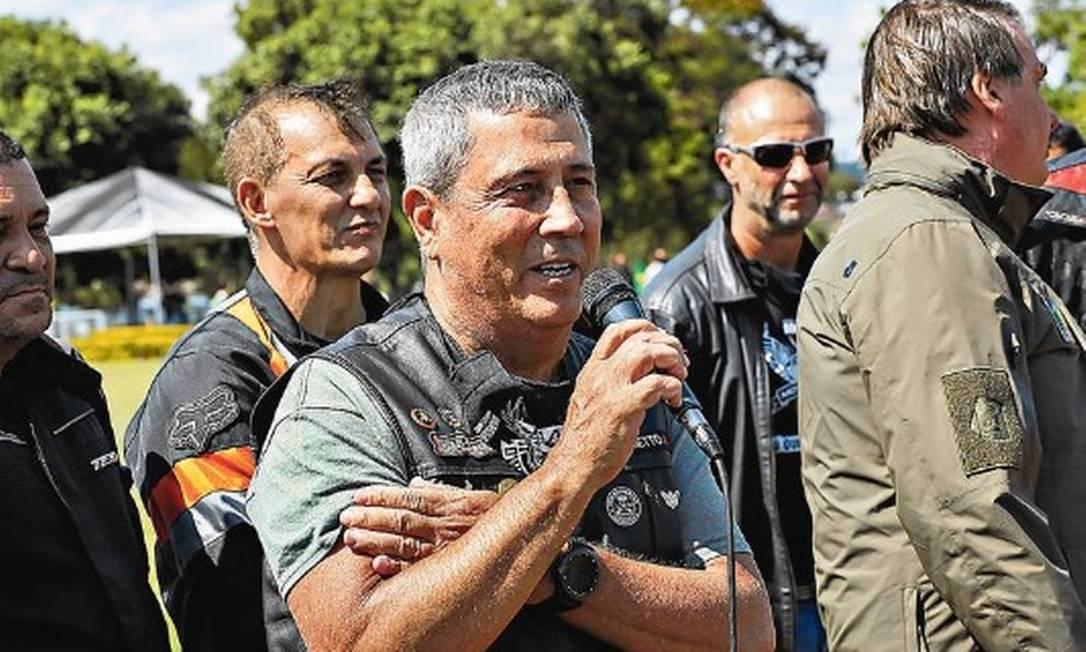 Ministro Braga Netto discursa em manifestação em Brasília Foto: Marcos Corrêa/PR