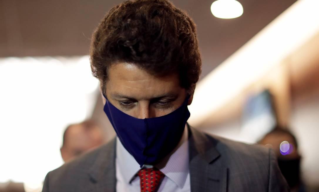 O ministro do Meio Ambiente, Ricardo Salles Foto: UESLEI MARCELINO/Reuters/19-5-2021
