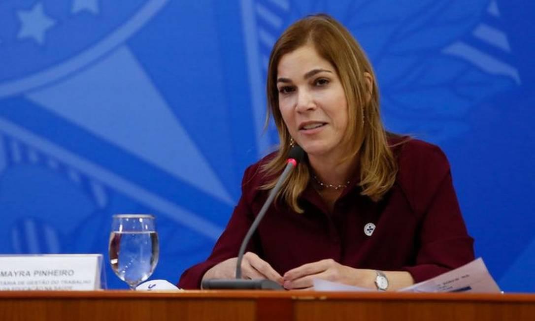 """Mayra Pinheiro usou informações falsas para promover o """"tratamento precoce"""" Foto: ANDERSON RIEDEL/PRESIDÊNCIA DA REPÚBLICA"""