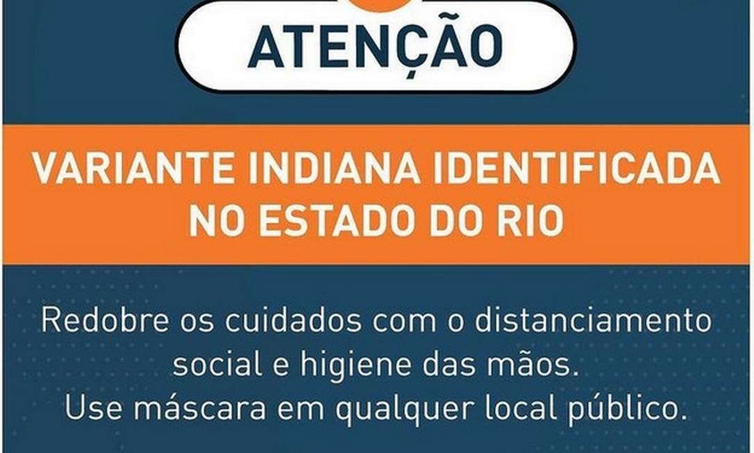 Prefeitura de Niterói confirma chegada da variante indiana mesmo sem confirmação da Secretaria Estadual de Saúde Foto: Reprodução