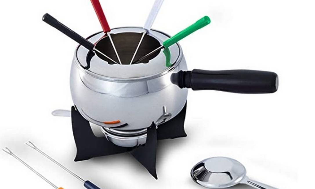 Conjunto para fondue. Foto: Divulgação Amazon