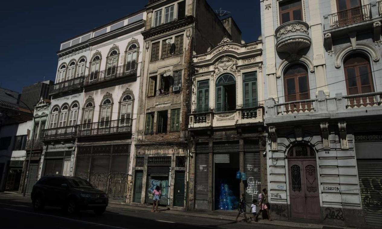 Edifícios na Rua da Consolação Foto: Guito Moreto / Agência O Globo