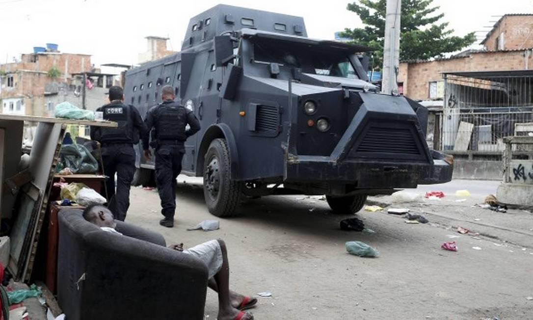 Operação no Jacarezinho deixou 28 mortos, entre eles um policial civil Foto: Fabiano Rocha/ Agência O Globo
