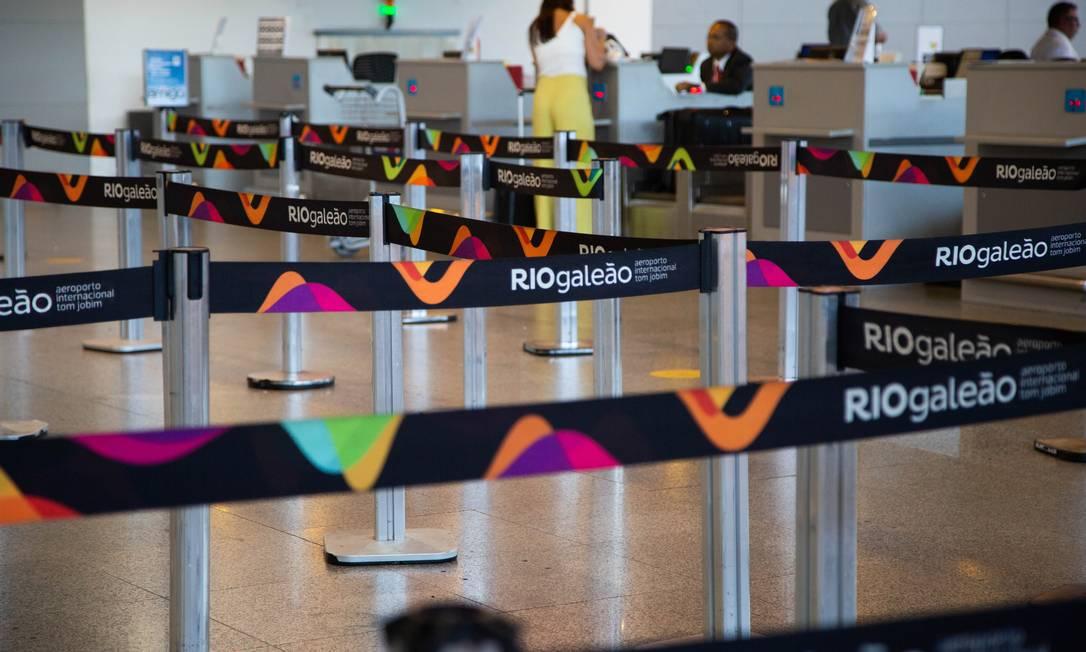 ECO - Rio de Janeiro (RJ) - 07/03/2019 - Aeroporto Internacional Tom Jobim RioGaleão. Foto: Gabriela Fittipaldi / Agência O Globo Foto: Gabriela Fittipaldi / Agência O Globo