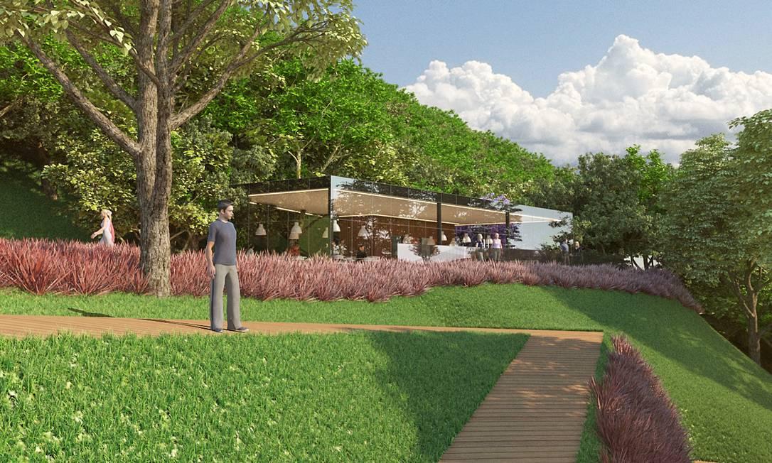 Projeto do Parque Sustentável da Gávea: proposta foi aprovada em primeira discussão na Câmara Foto: Reprodução