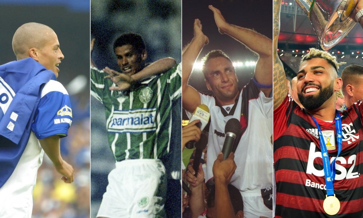 O GLOBO e o 'Extra' convocaram mais de 60 jornalistas que escolheram os principais vencedores do Campeonato Brasileiro dos últimos 50 anos. Foto: Montagem sobre fotos de arquivo