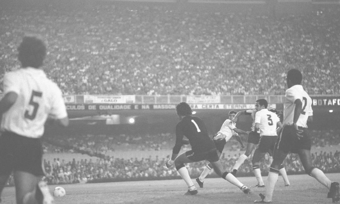 Vigésimo octavo lugar - ATLÉTICO-MG (1971) - Al derrotar a Botafogo, Gallo se llevó la primera edición del campeonato nacional bajo el nombre de Brasil.  Foto: Archivo / O Globo