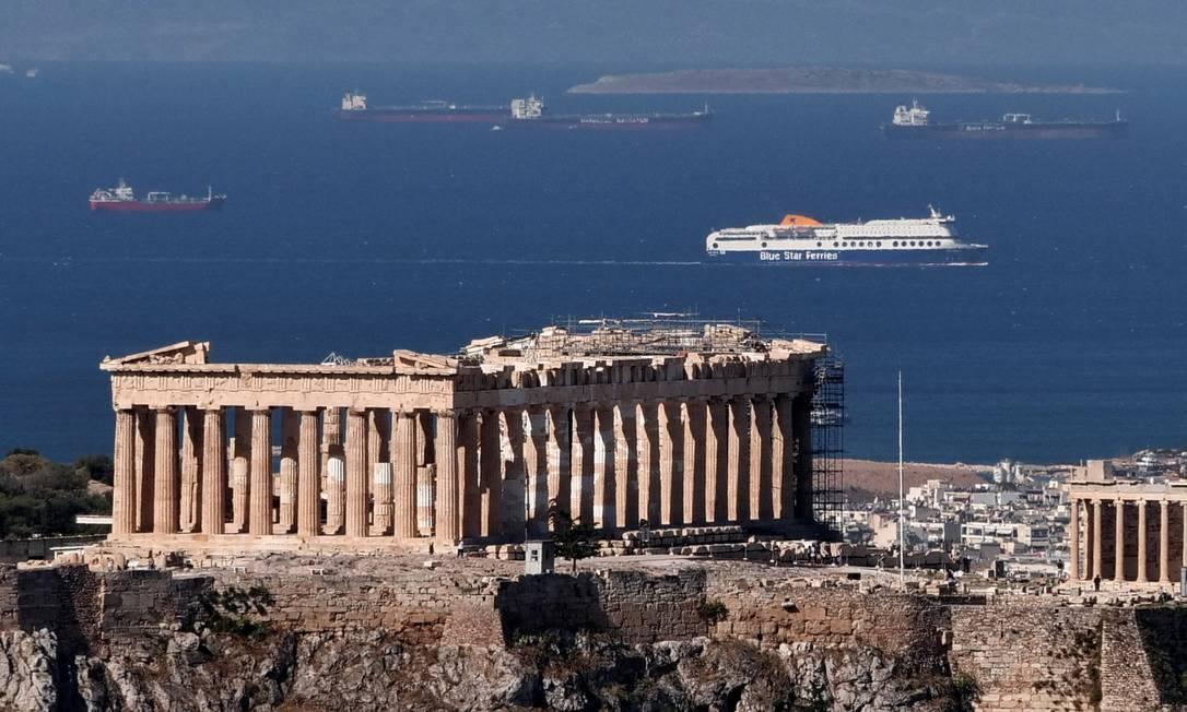O templo do Parthenon, no alto da Acrópole de Atenas, na Grécia Foto: VASSILIS TRIANDAFYLLOU / REUTERS
