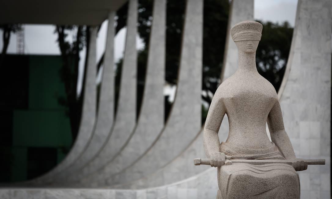 Sede do Supremo, em Brasília: Corte investiga a atuação de grupos que promovem atos antidemocráticos e agridem a Constituição Federal, além de propagarem fake news Foto: Pablo Jacob / Agência O Globo