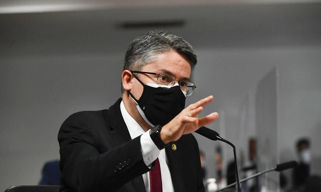 Senador Alessandro Vieira (Cidadania-SE) aplica experiência de ex-delegado na CPI da Covid Foto: Leopoldo Silva / Agência Senado