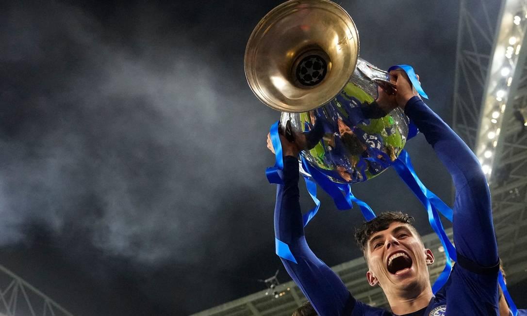 Havertz é a segunda maior contratação da história do Chelsea Foto: MANU FERNANDEZ / AFP
