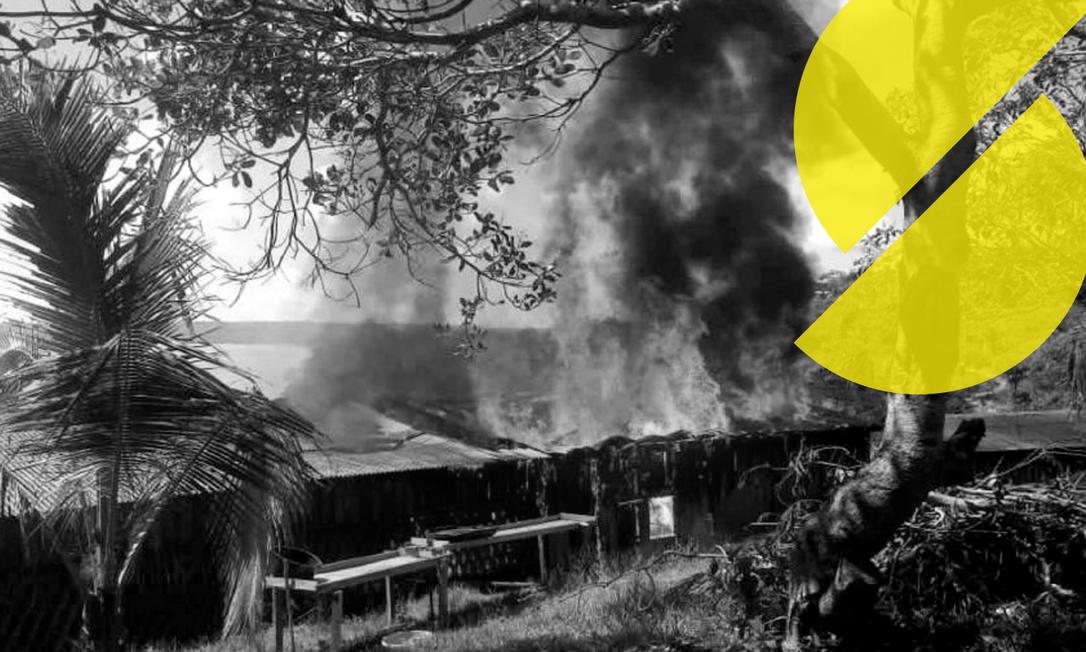 Casa do líder dos povos Munduruku foi incendiada por garimpeiros Foto: Maria Leusa/Amazônia Real