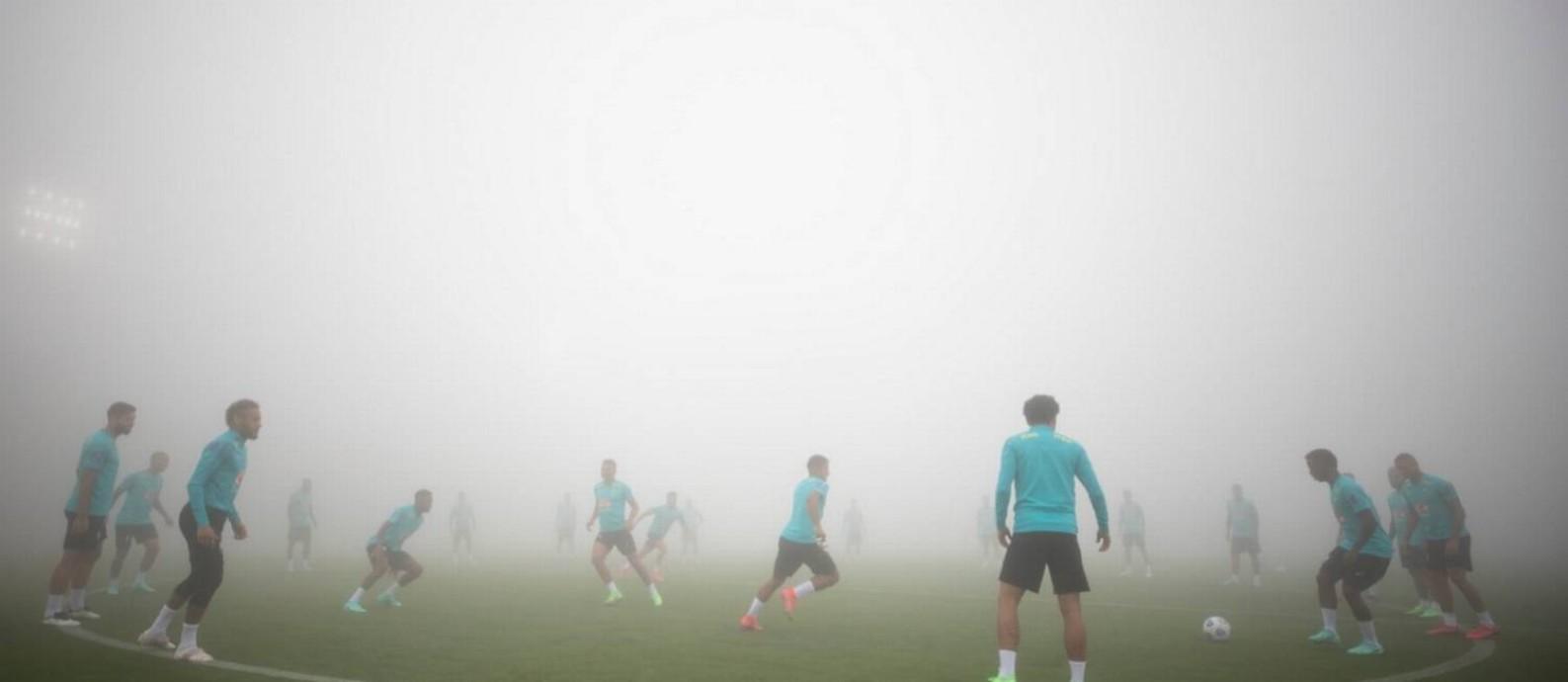 Seleção Brasileira treina na Granja Comary Foto: Lucas Figueiredo/CBF