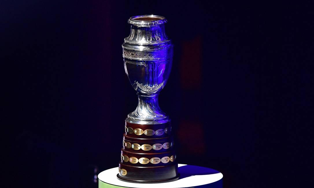Conmebol anunciou a realização da Copa América no Brasil Foto: CARL DE SOUZA / AFP