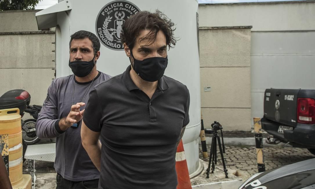 Dr. Jairinho, após ser preso Foto: Guito Moreto / Agência O Globo / Arquivo