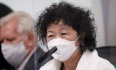 Médica Nise Yamaguchi na CPI da Covid Foto: Pablo Jacob/O Globo